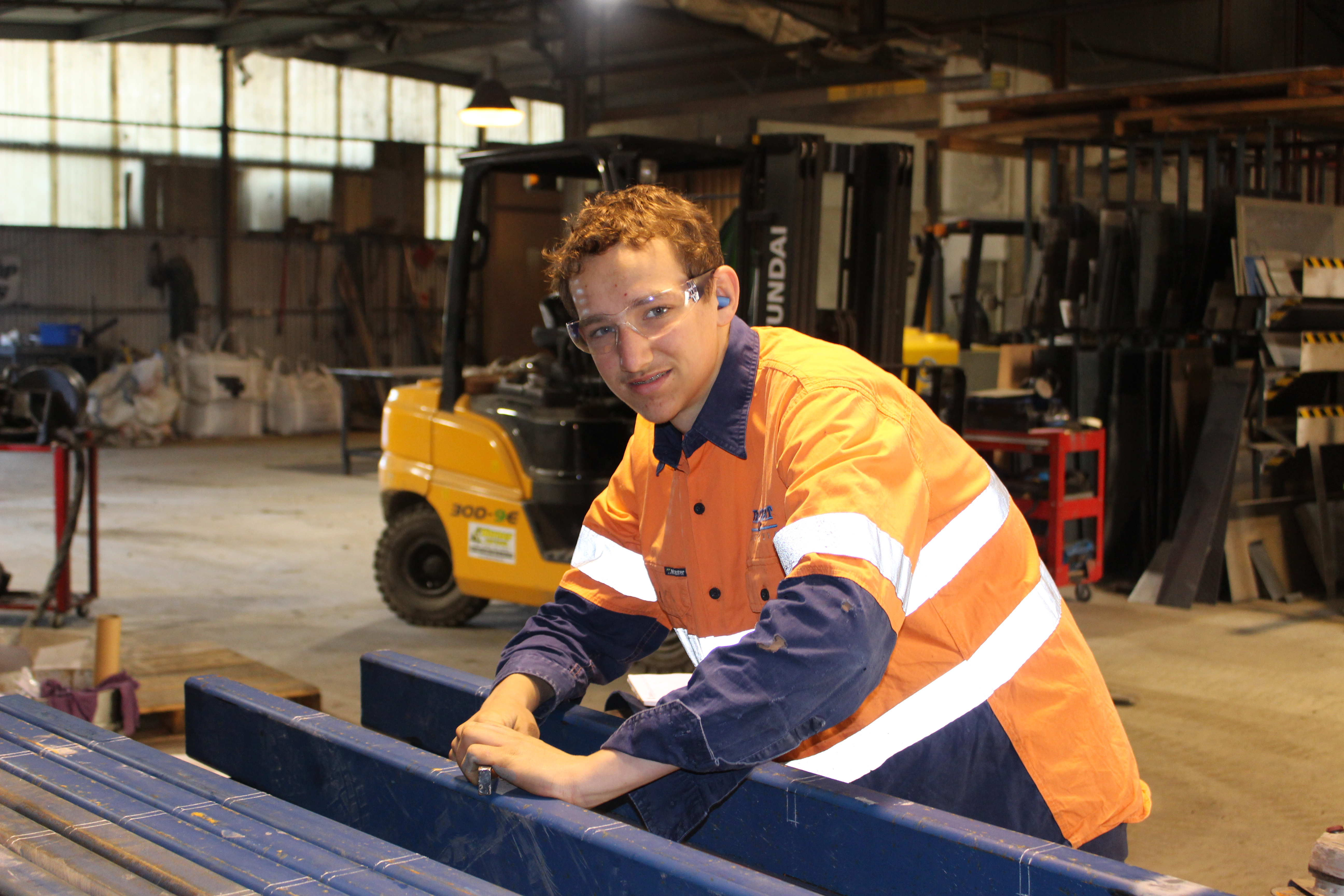 Mitchell Noack at work at Fabcoat in NUriootpa